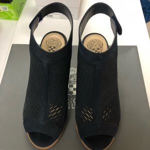 Vince Camuto Navy Lavette booties